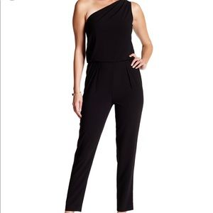 Hailston Heritage one shoulder jumpsuit-Black